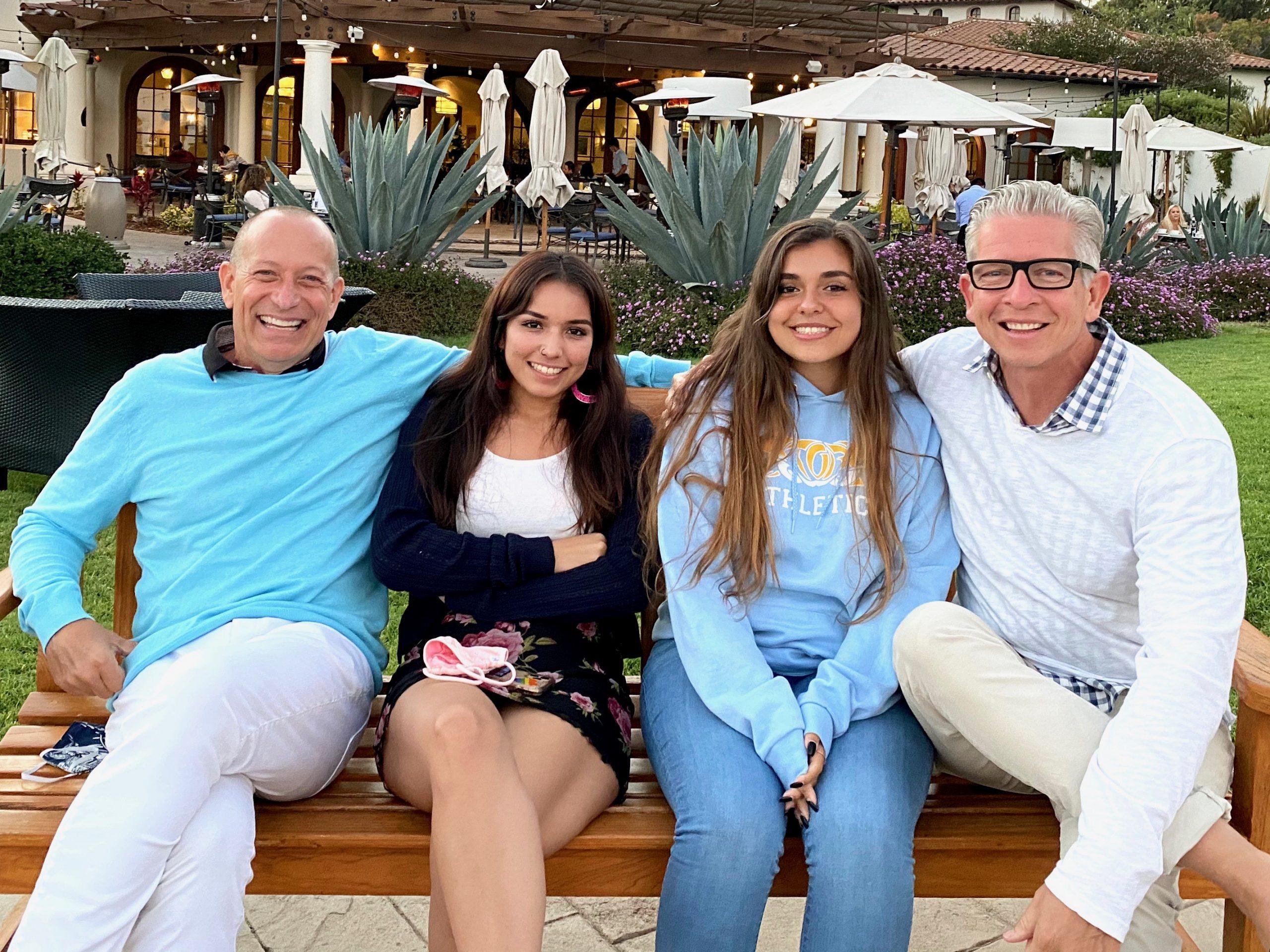 2 dads with daughters at Ritz-Carlton Bacara Resort in Santa Barbara, CA