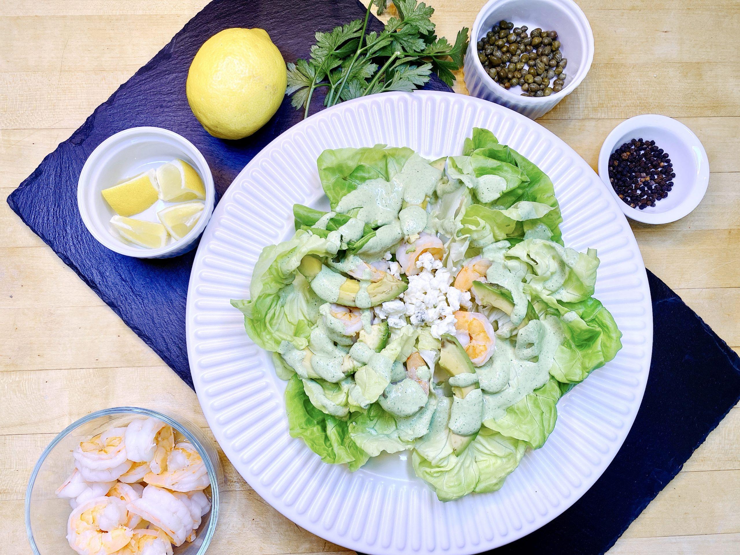 Green Goddess Dressing recipe on Shrimp Salad