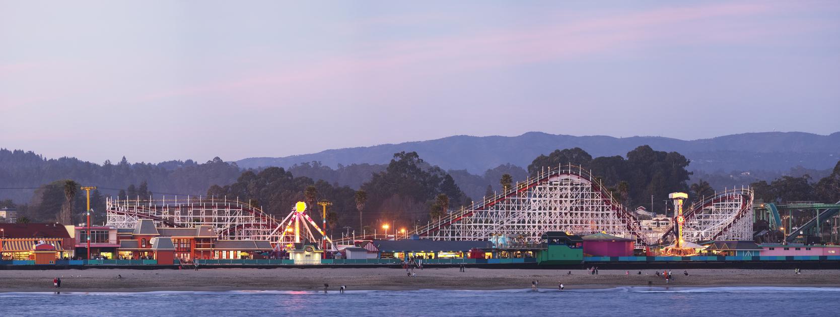 Santa Cruz Beach Boardwalk roller coaster