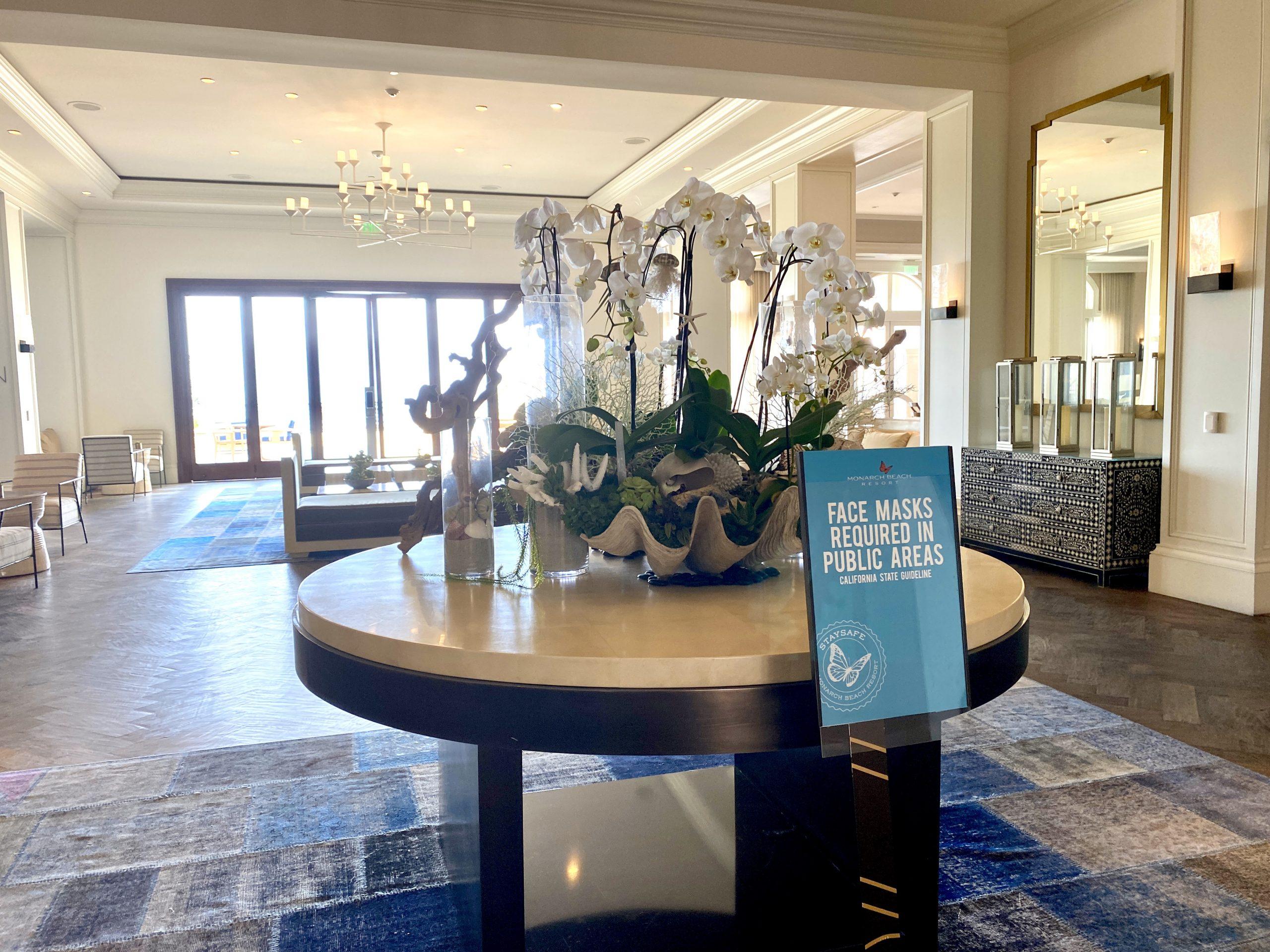 Lobby of Monarch Beach Resort in Dana Point, CA