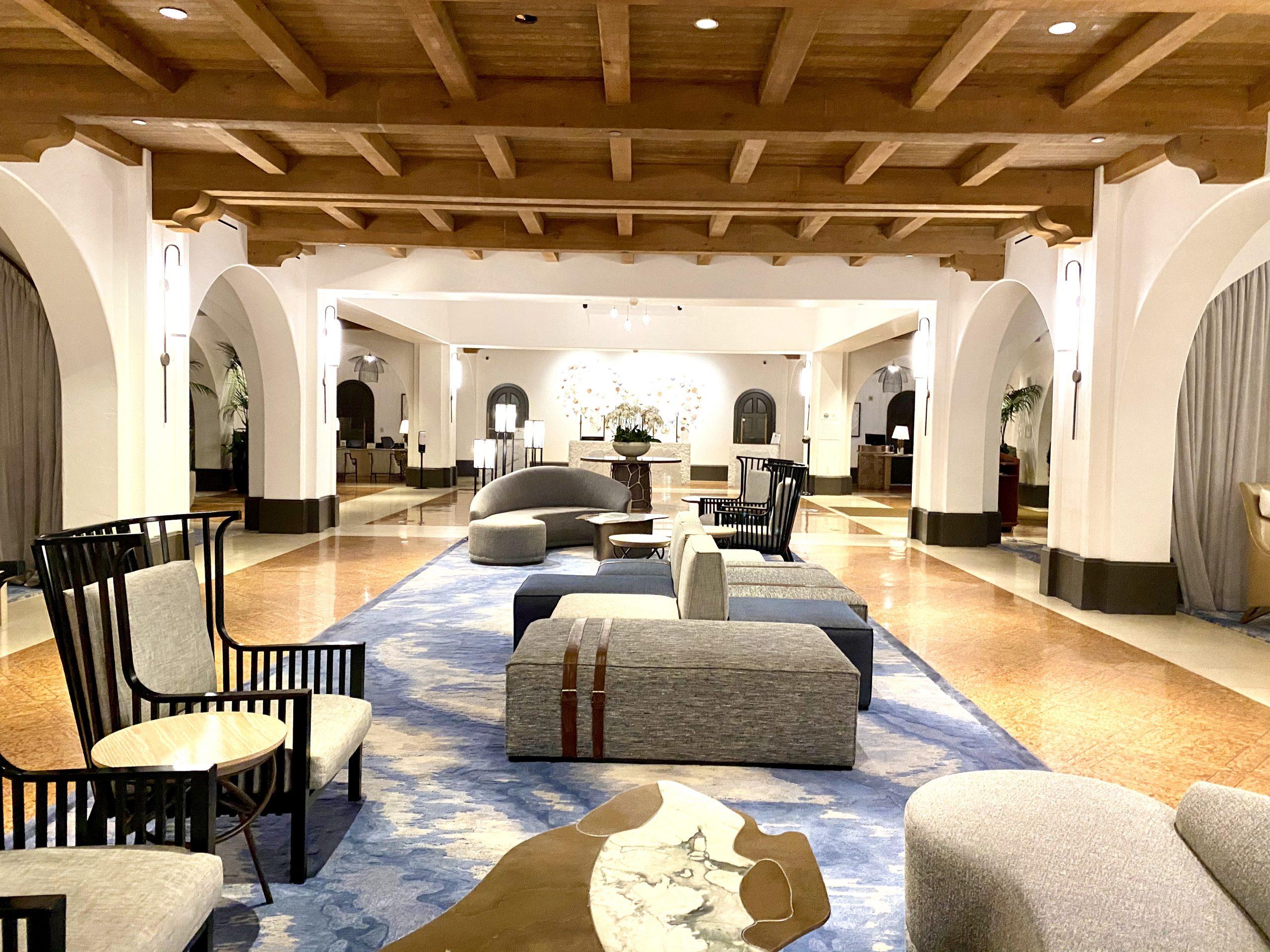 Lobby view with no people at Ritz-Carlton Bacara Resort, Santa Barbara, CA