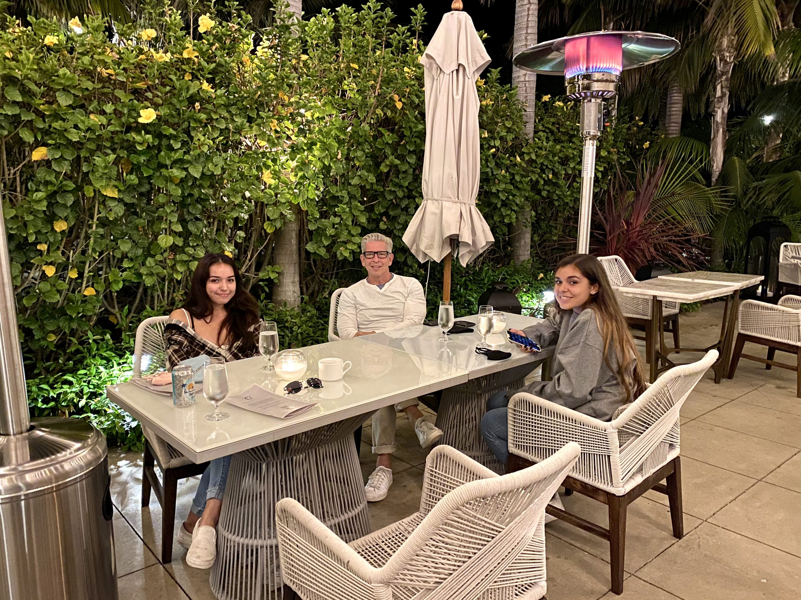 dining al fresco at the Ritz-Carlton Bacara Resort in Santa Barbara, CA