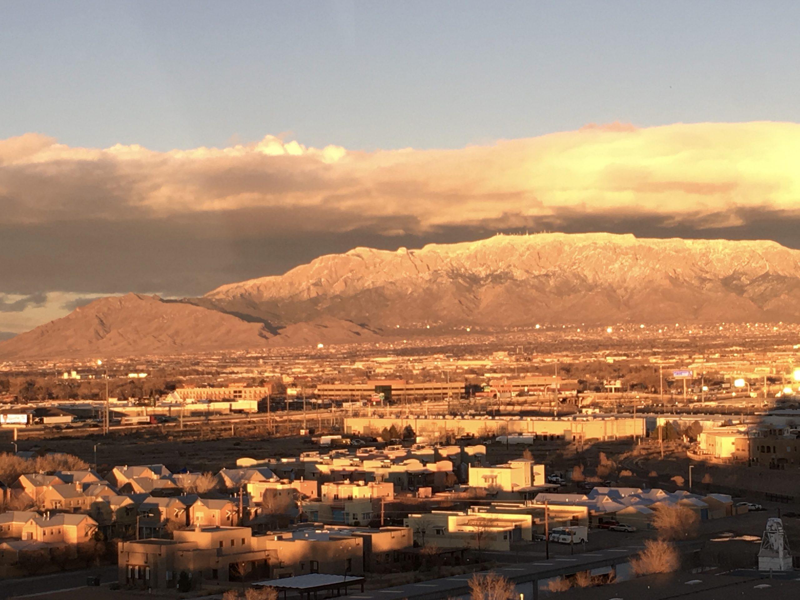 Albuquerque at sunrise