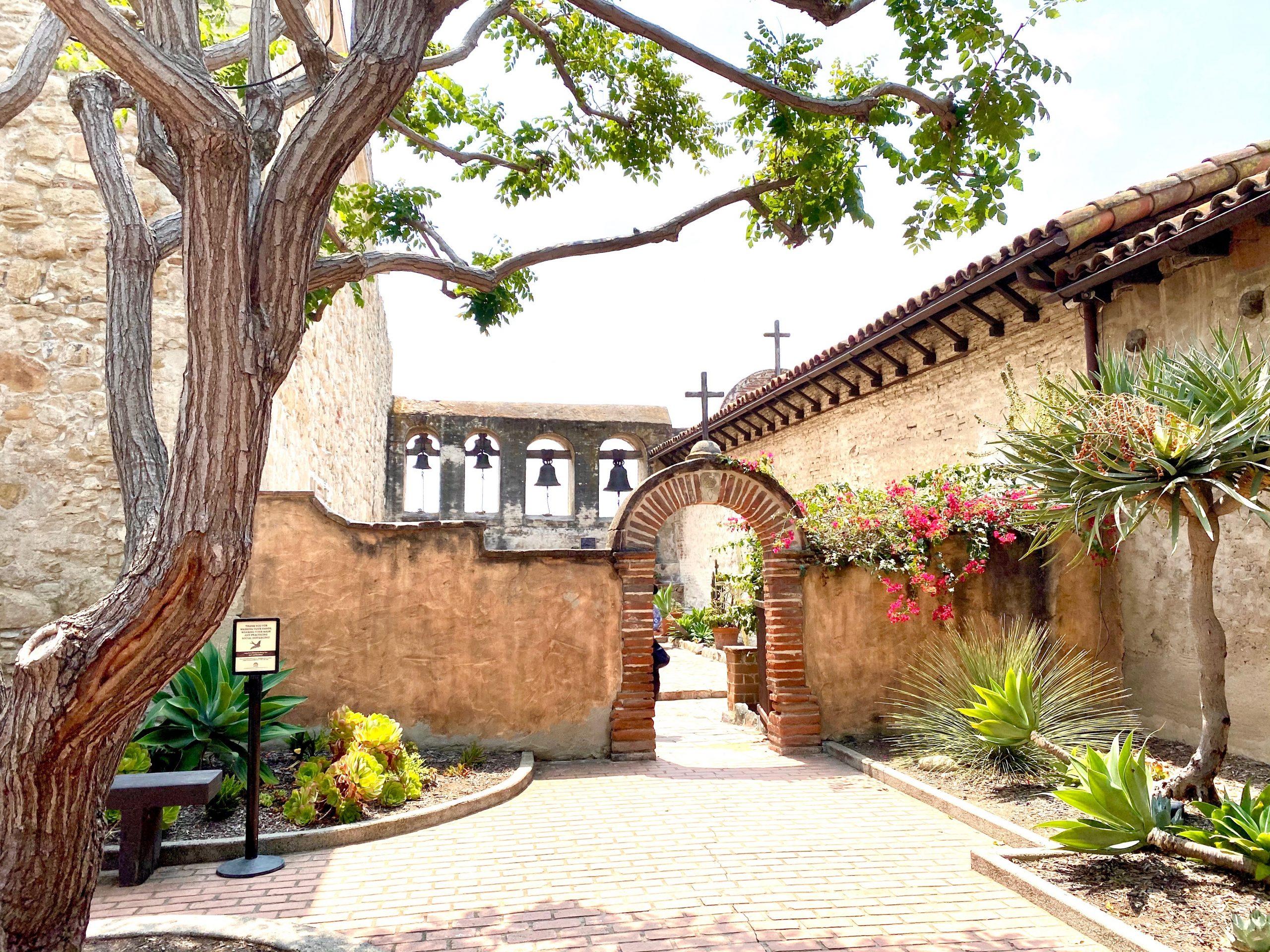 The famous mission bells at Mission San Juan Capistrano, CA