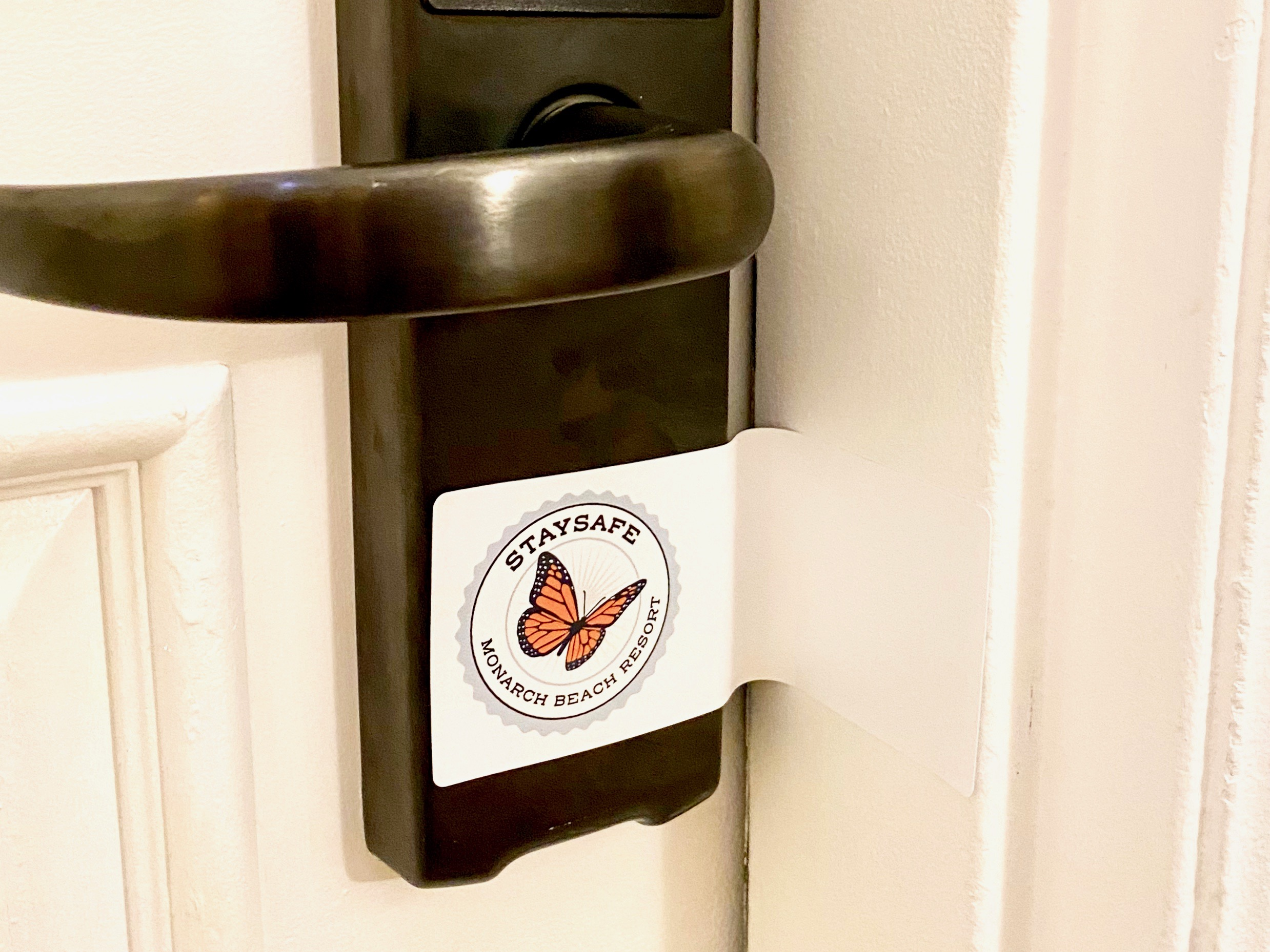 The Stay Safe Program at the Monarch Beach Resort in Dana Point, CA includes safety seals on all guest rooms