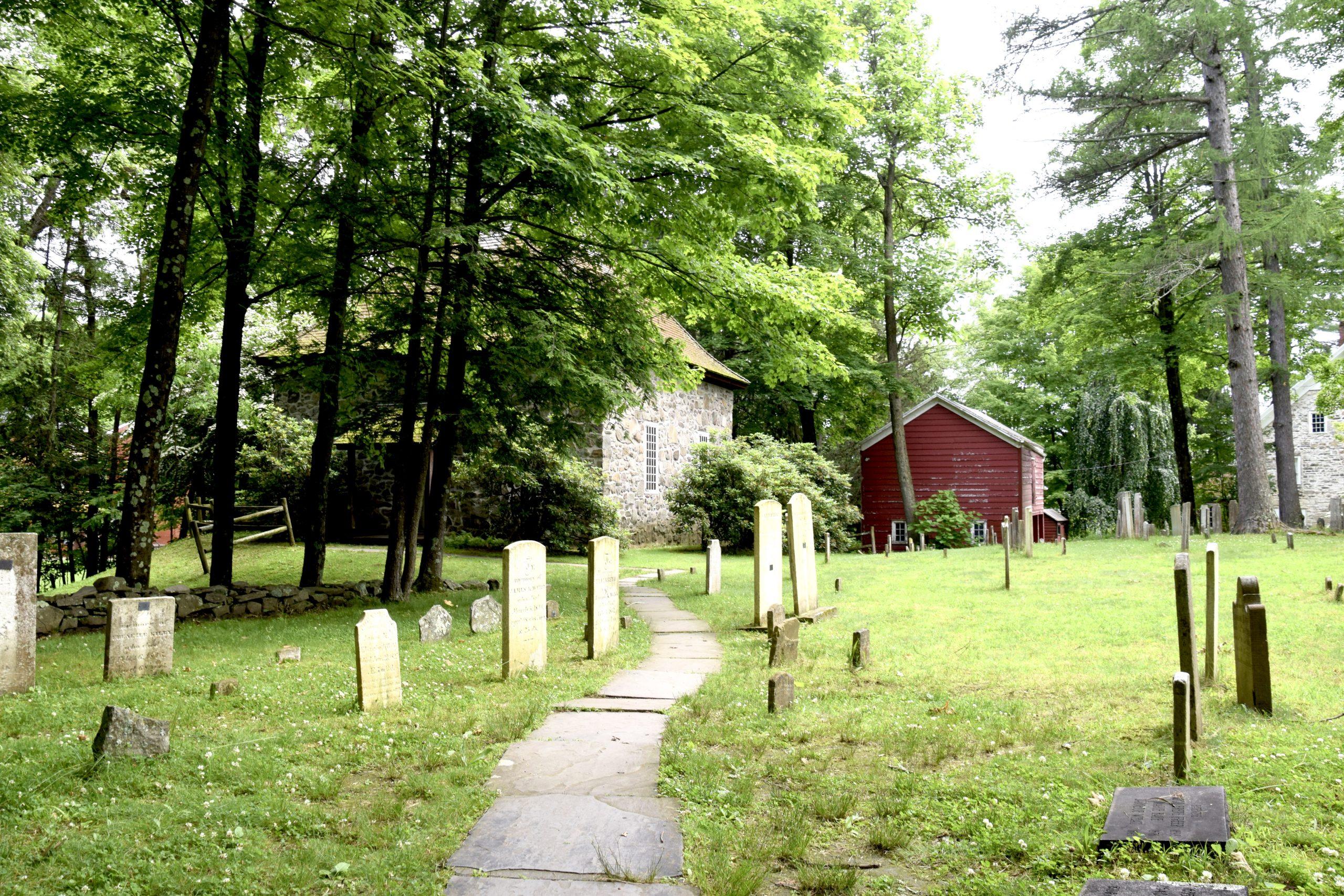Graveyard at Historic Huguenot Street in New Paltz, New York