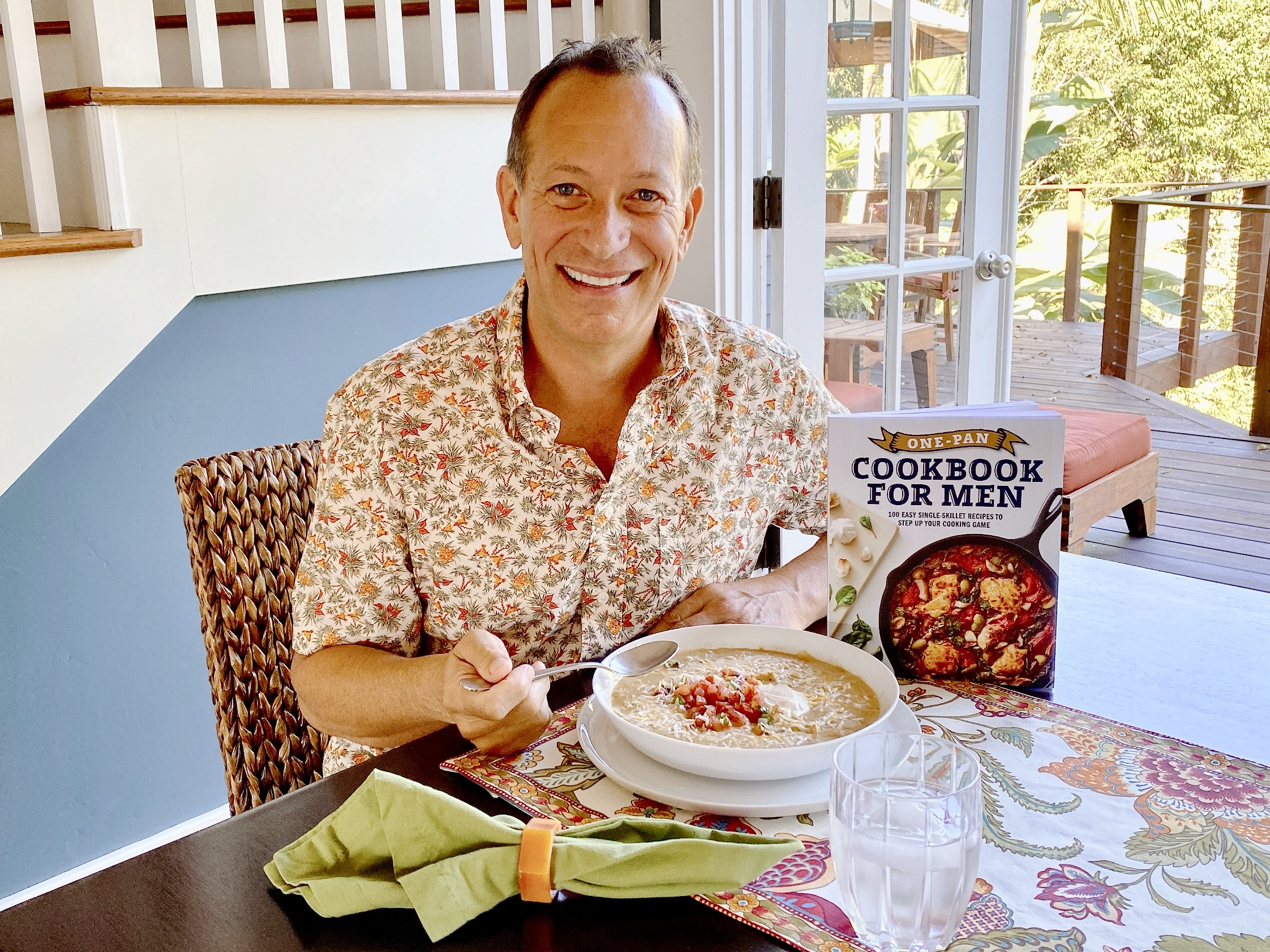 Jon Bailey and his new book One-Pan Cookbook for Men