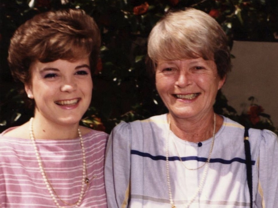 mother and daughter circa 1986