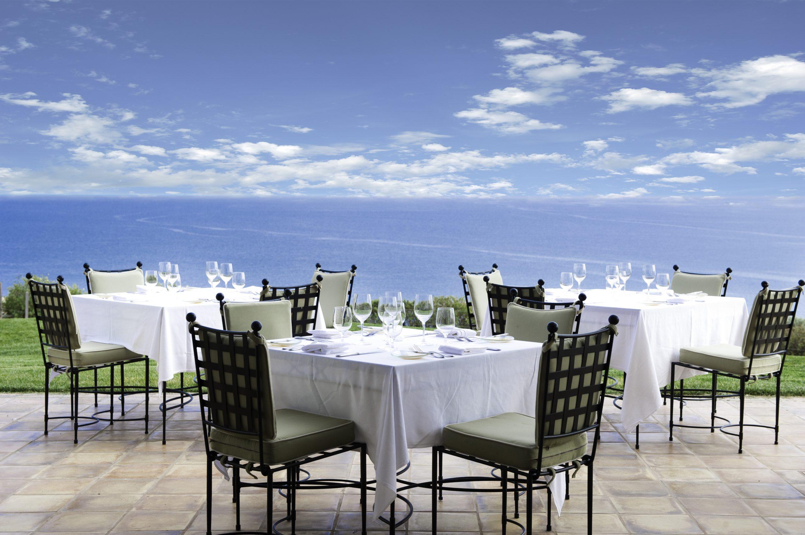 Patio dining at Mar'sel Restaurant at Terranea Resort