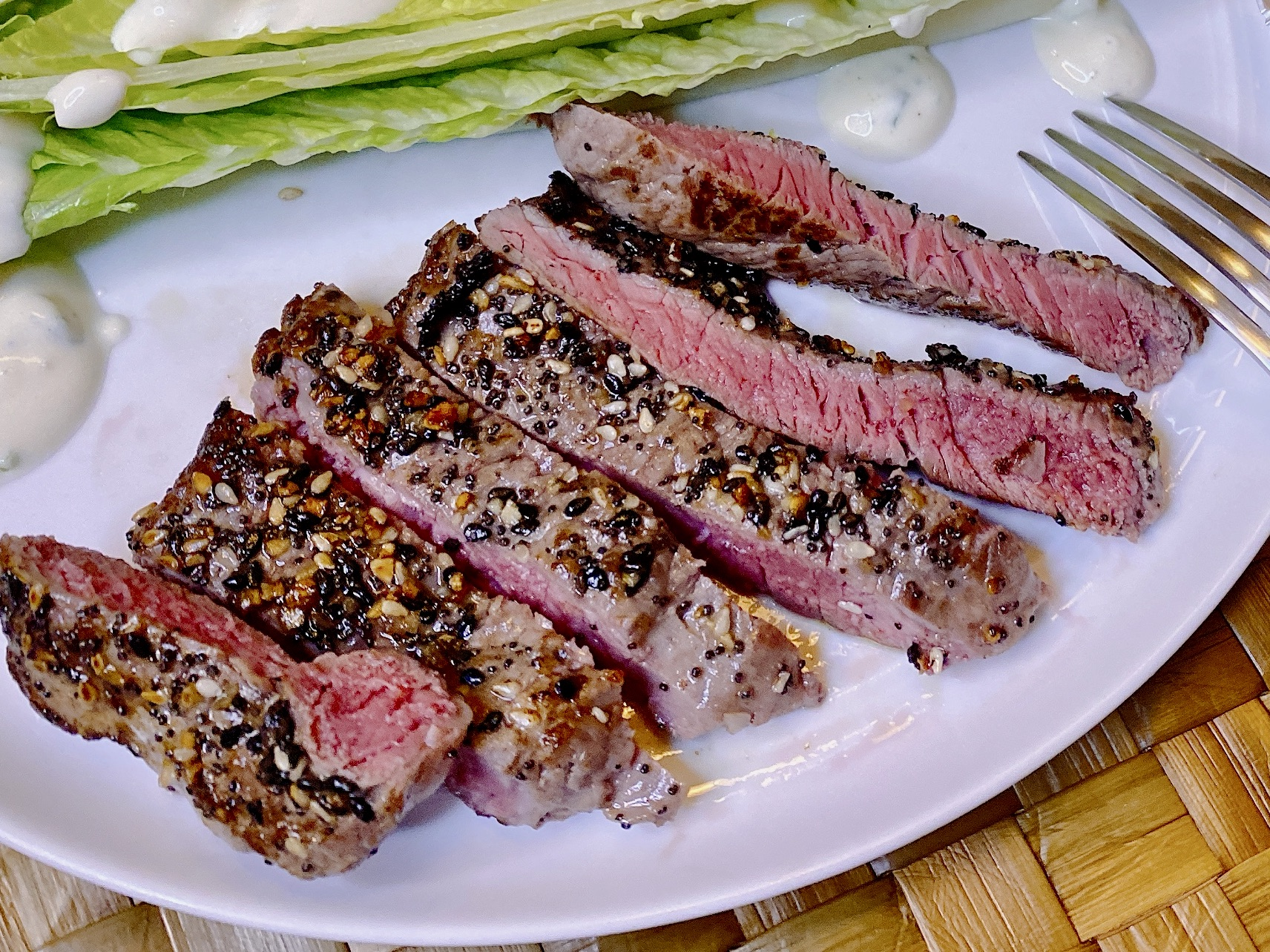 Recipe for Sirloin Steak with Everything Bagel Spice