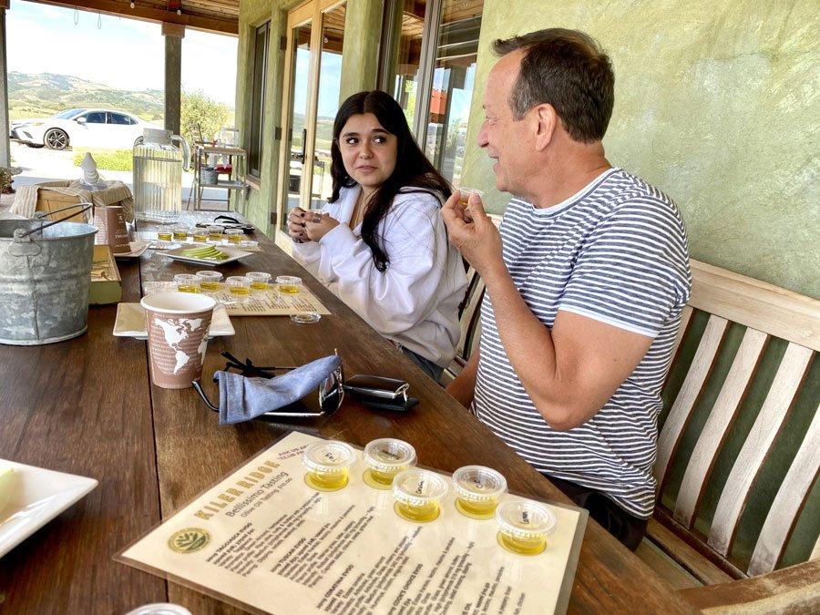 Olive Oil Tasting at Kiler Ridge Olive Farm in Paso RObles, CA