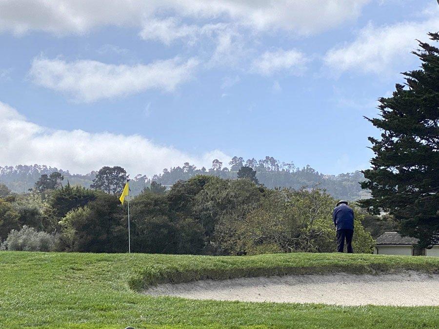 man playing golf at Hyatt Regency Monterey, CA
