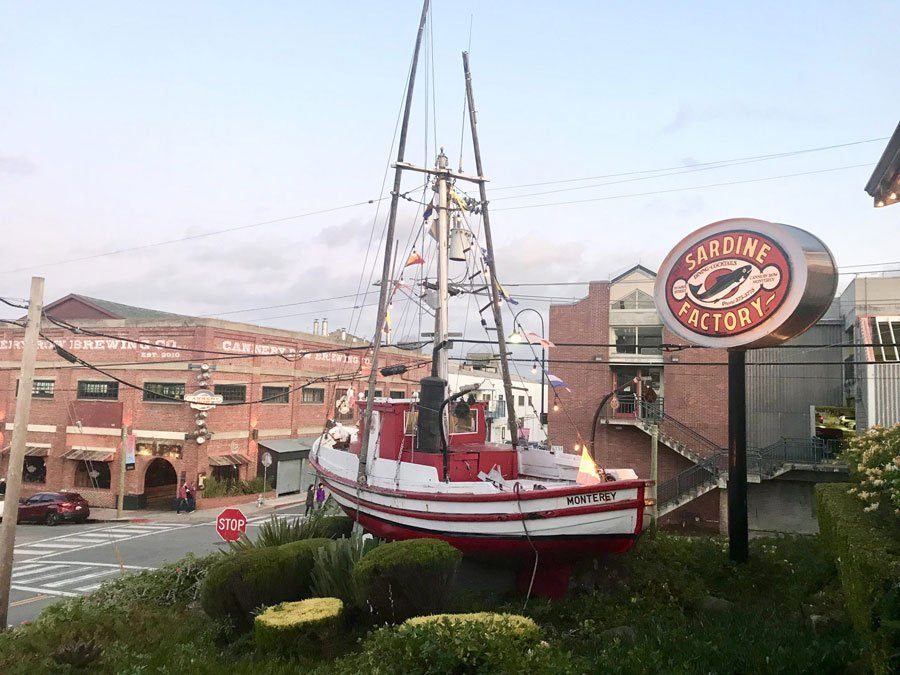 The Sardine Factory restaurant in Cannery Row, Monterey, CA
