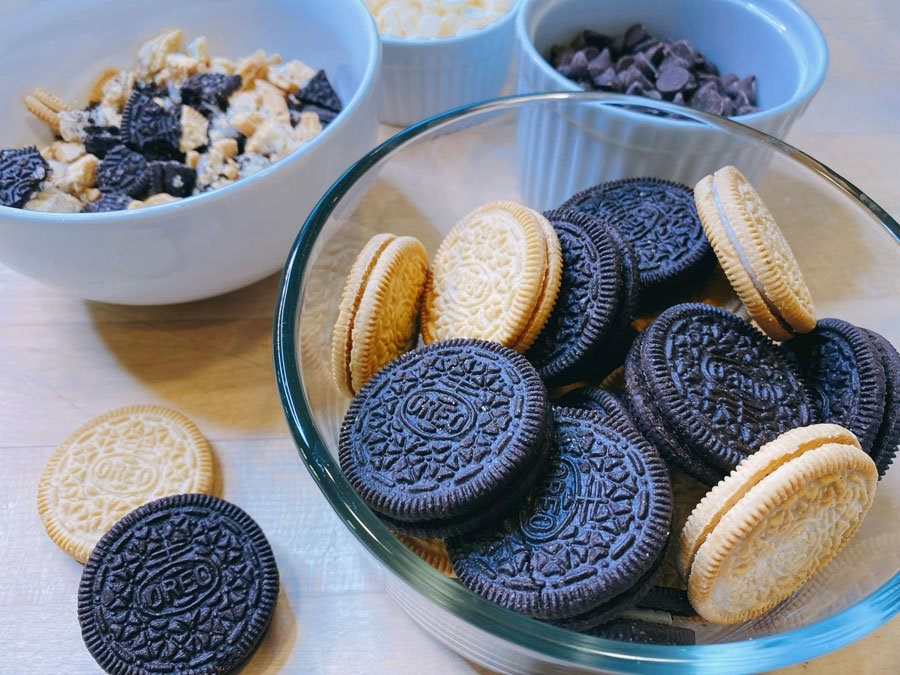 blonde and chocolate OREO Cookies