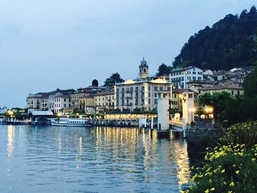 village on the shores of Lake Como, Italy