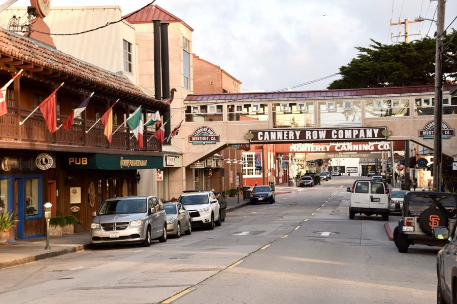 Cannery Row shops and restaurants, Monterey, CA