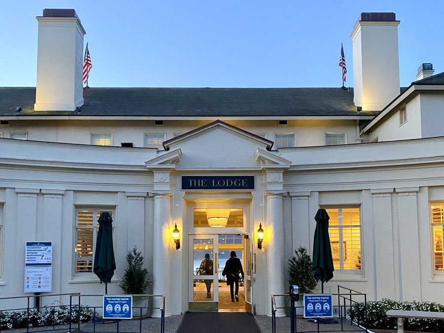 entrance to the Lodge at Pebble Beach, CA