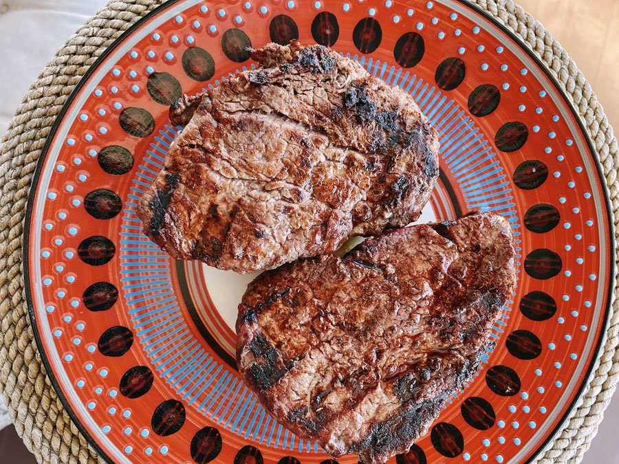 Two grilled steaks from Crowd Cow