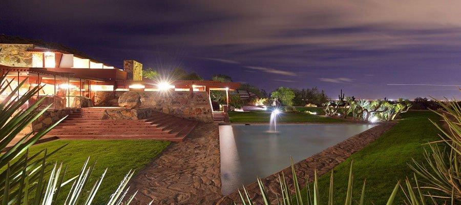 Taliesin West at night