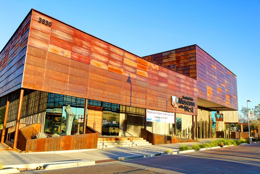 Scottsdale, Arizona, USA - March 13, 2019: Daytime view of Scottsdale's Museum of the West located in Old Town District