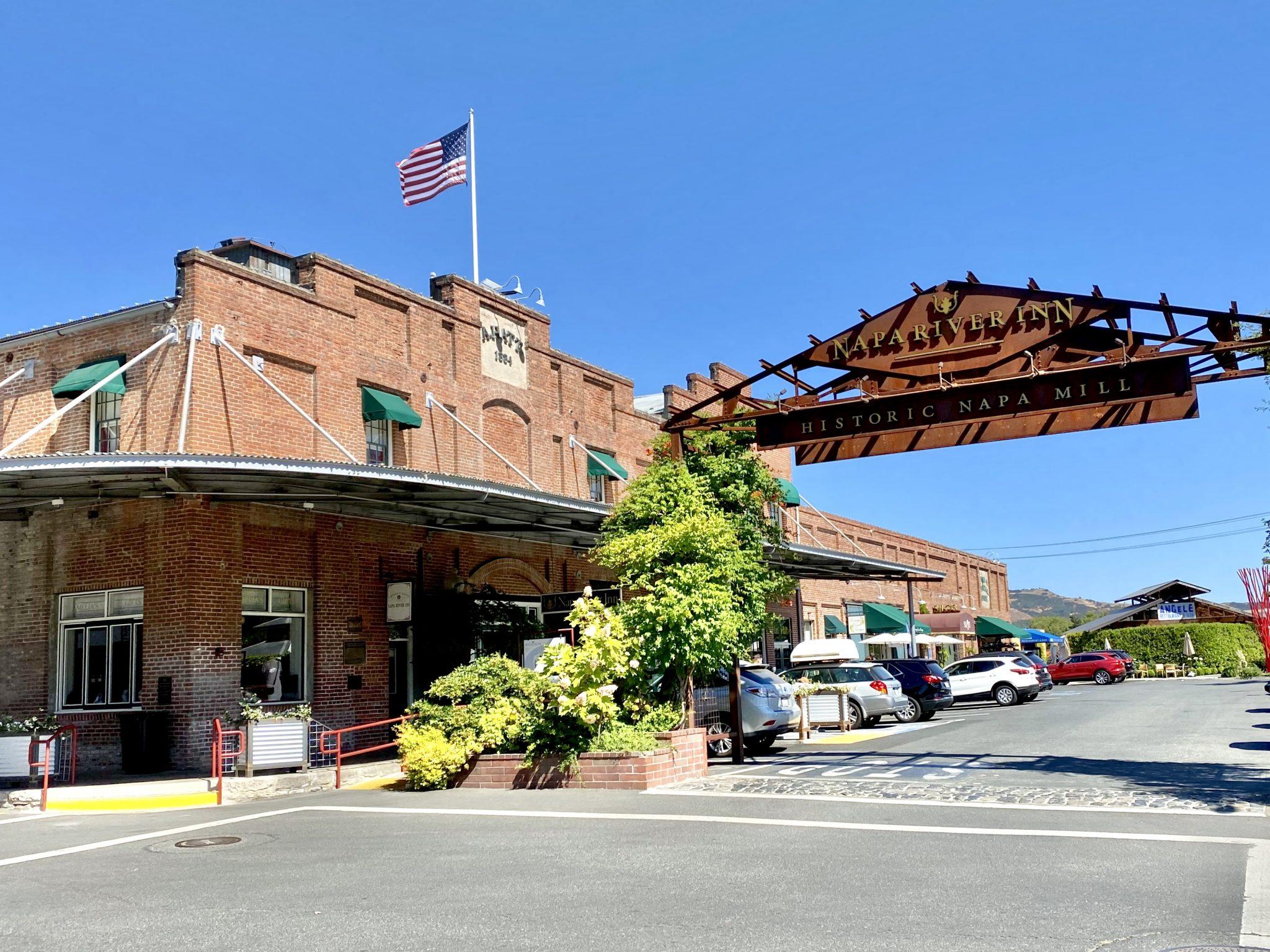 Napa River Inn front entrance and main building