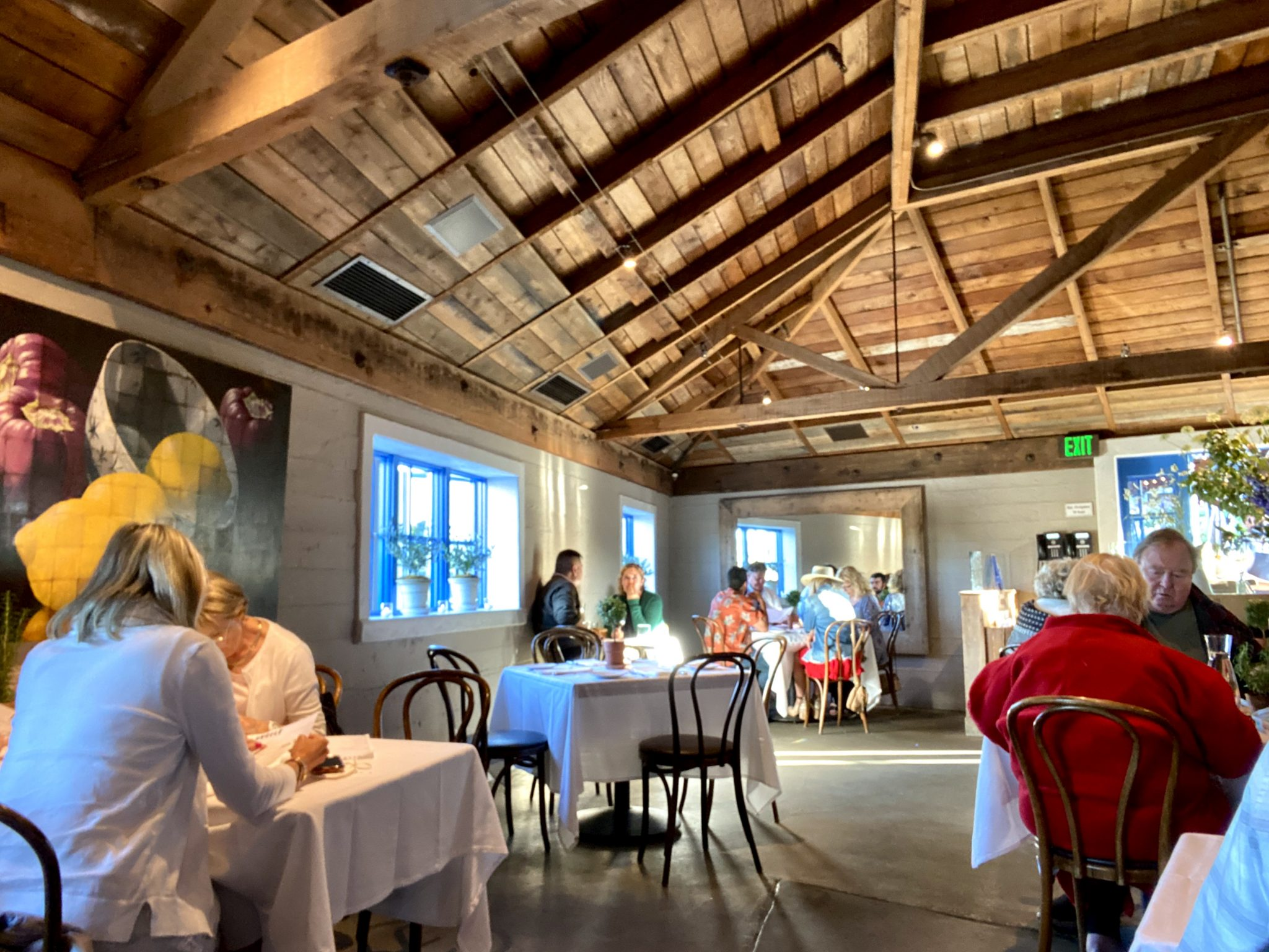 Interior of Angele Restaurant in Downtown Napa specializing in country French food