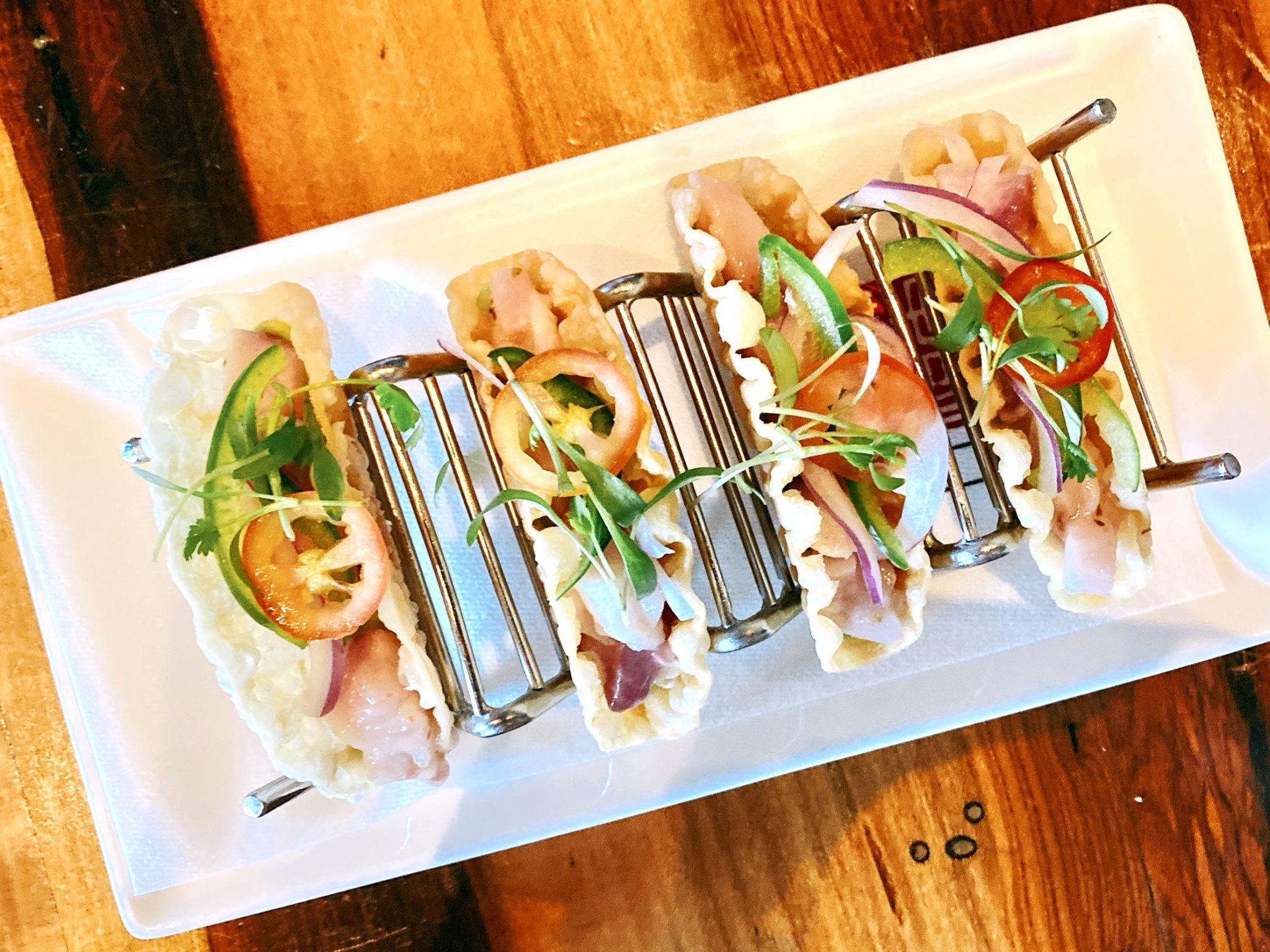 Ahi tacos at Morimoto Restaurant in Downtown Napa