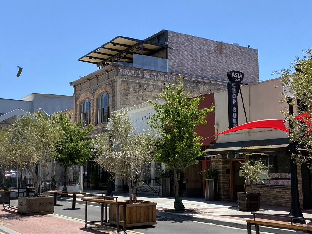 Historic Downtown Napa is coming alive with eateries and wine tasting rooms.