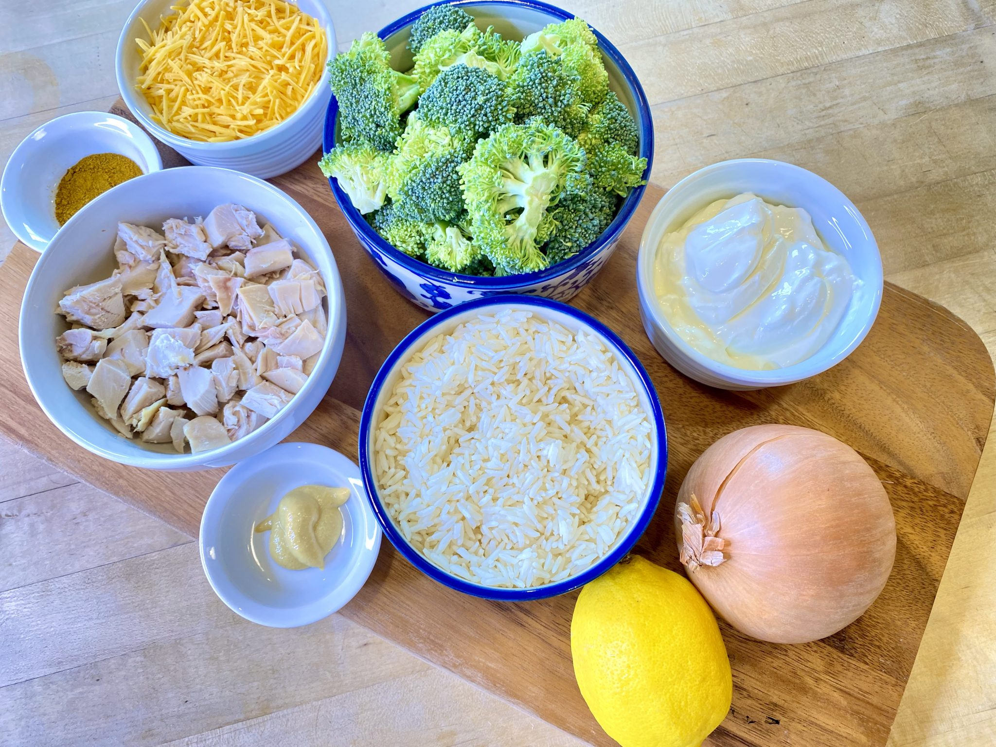 Healthy Chicken & Rice Bake with Broccoli Recipe ingredients