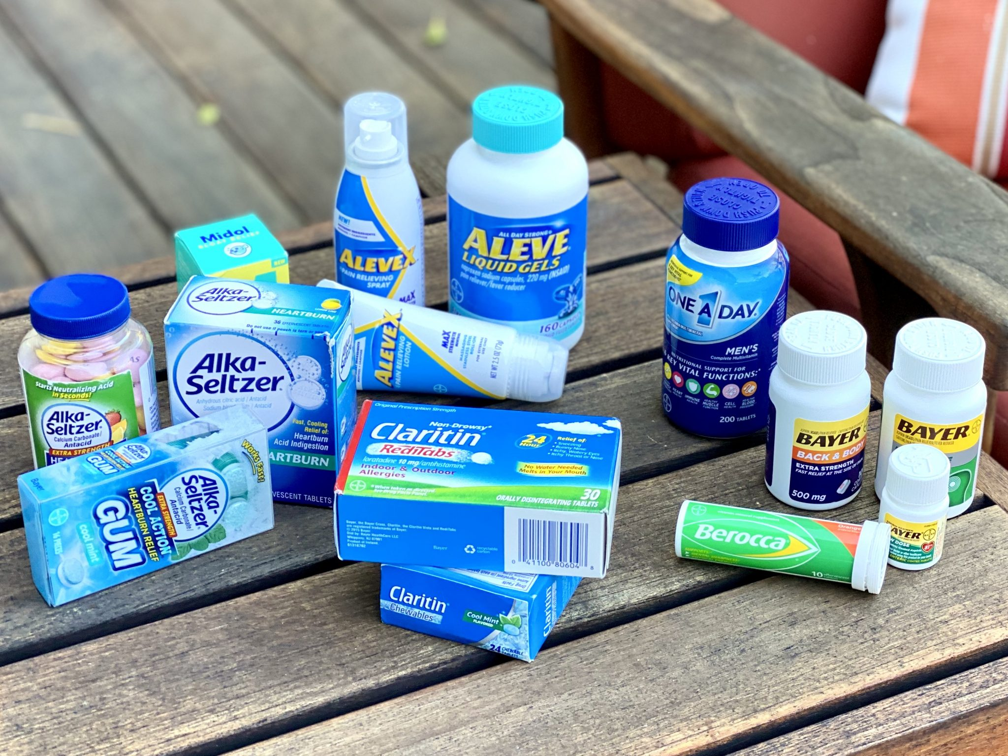 assortment of Bayer products