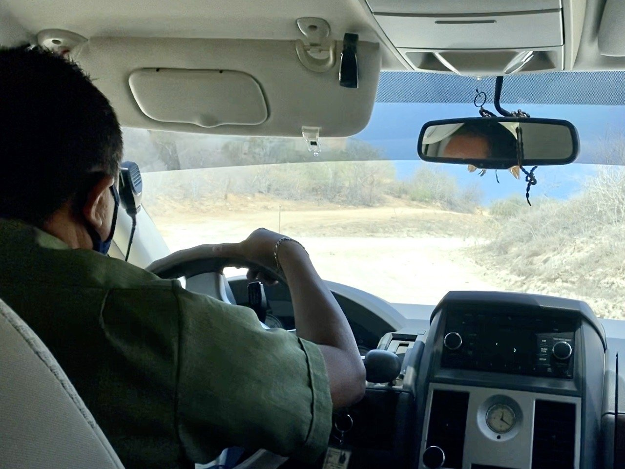 uber driver on road to Flora Farms in San Jose del Cabo